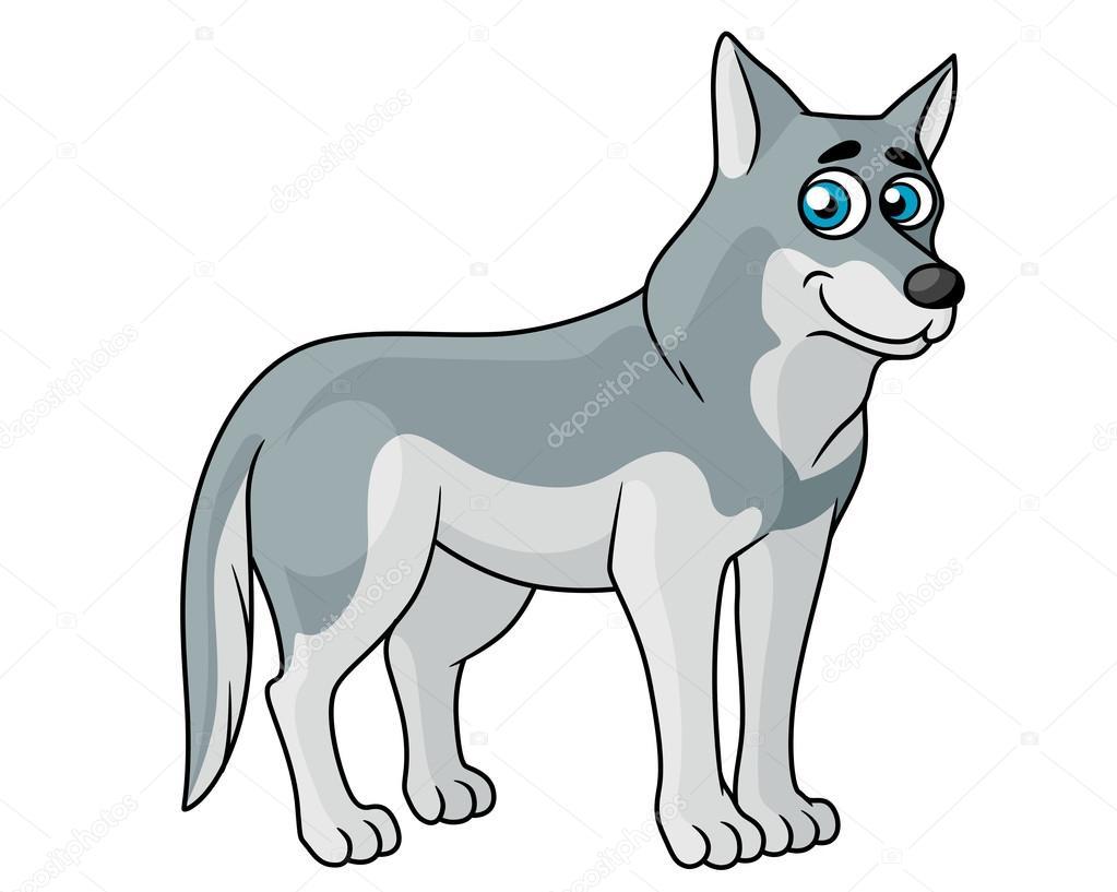 Рисунок серого волка