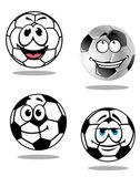 Cartoon soccer or football  characters — 图库矢量图片