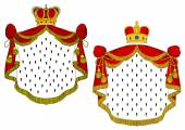 Heraldic royal mantles — Stock Vector