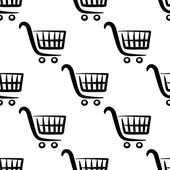 Shopping carts seamless pattern — Stock Vector