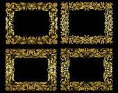 Ornate gold floral frames — Stock Vector