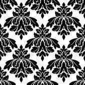 Black damask seamless pattern — Stock Vector