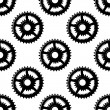Abstract seamless gear wheels pattern — Stock Vector #64979431