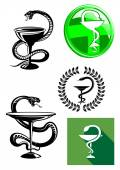 Medicine and pharmacy icons — Stock Vector