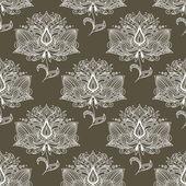 White paisley seamless pattern — Stock Vector
