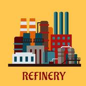 Flat industrial refinery — Stock Vector