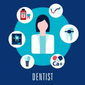 Dentist and dentistry concept — Cтоковый вектор