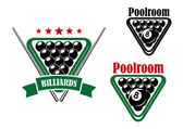 Billiard or poolroom emblem — Stock Vector