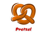 Bavarian twisted pretzel in cartoon style — Stock Vector