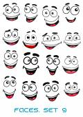 Happiness and smiling people faces — Stock Vector