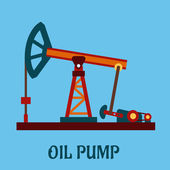 Isolated flat oil pump icon — Stock Vector