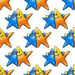 Cartoon hugging stars characters seamless pattern — Stock Vector #68858083