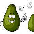 Smiling ripe green avocado fruit character — Stock Vector #68858161