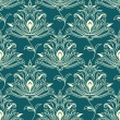Indian styled floral ornament seamless pattern — Vetor de Stock  #68858417