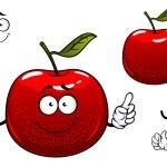 Red crunchy apple fruit cartoon character — Stock Vector #68858583
