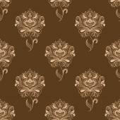 Oriental dainty paisley flowers seamless pattern — Stock Vector