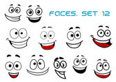 Emotions faces with happiness and fun — Stock Vector