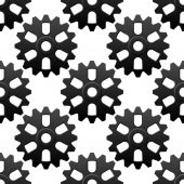 Mechanical sesamless pattern with cogwheels or gears — Stock Vector