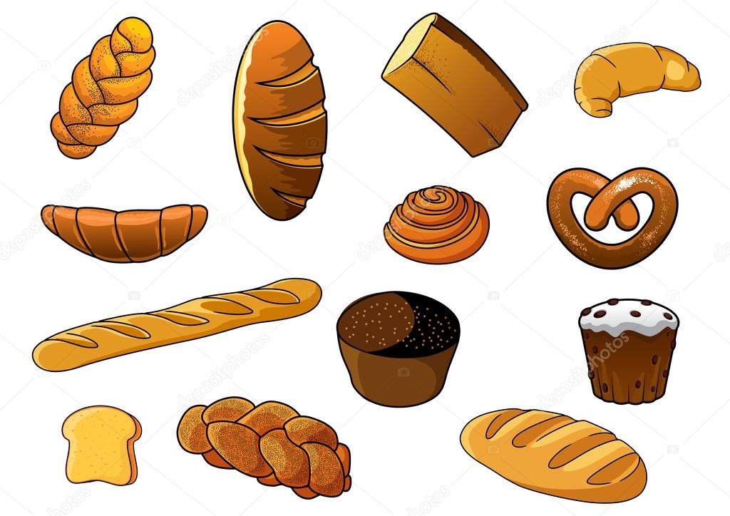 Рисунок хлеба и хлебобулочных изделий