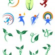Eco friendly and environment protection symbols — Stock Vector #70123971