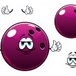 Glossy bowling ball cartoon mascot character — Stock Vector #70124193