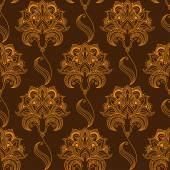 Oriental stylized paisley flourish seamless pattern — Stock Vector