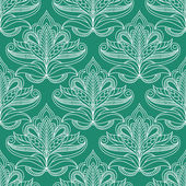 Persian openwork foliage compositions seamless pattern — Stock Vector