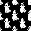 Cartoon uggly ghosts and monsters seamless pattern — Vecteur #71912835