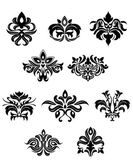 Floral embellishments and design elements — Stock Vector