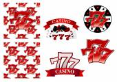 Casino and gambling emblems or badges — Stock Vector