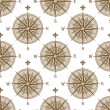 Vintage compass sign seamless pattern — Stock Vector #74020401
