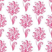 Pembe desenli çiçek seamless modeli — Stok Vektör