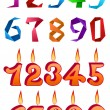 Sets of decorative numbers for holiday design — Stock Vector #74661267