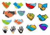 Colorful partnership and friendship symbols — Stockvektor