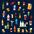 Beverages and drinks flat icons set — Stock Vector #75971319