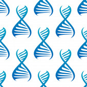 Blue DNA helices seamless pattern — Wektor stockowy