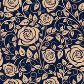 Blooming roses floral seamless pattern — Vetor de Stock