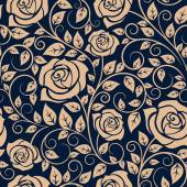 Blooming roses floral seamless pattern — Stock vektor