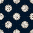 Vintage compass seamless pattern background — Stock Vector #78968386