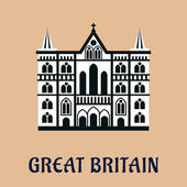 Great Britain landmark flat icon — Stock Vector