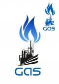 Natural gas industrial processing icon — Stock Vector