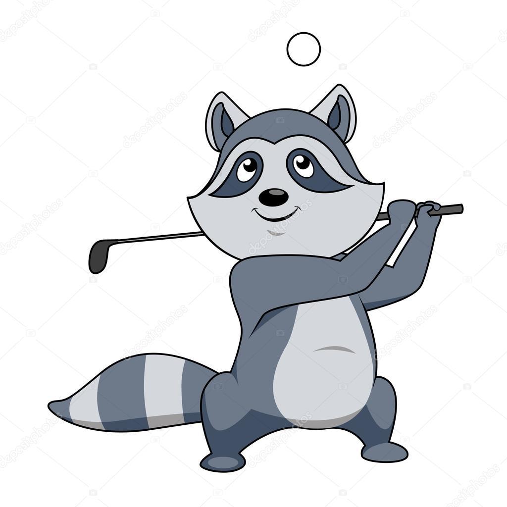 Animales Jugando Golf Divertida De Dibujos Animados