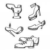 Conjunto de caja de zapatos de sexo y ciudad