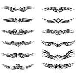 Set of tribal tattoos — Stock Vector #63987057