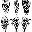Set of tribal tattoos — Stock Vector #72058365