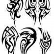 Set of tribal tattoos — Stock Vector #72058381