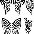 Set of tribal tattoos — Stock Vector #72058385