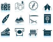 Set of travel icon — Stok Vektör