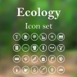 Ecology icon set — Stock Vector #75564431