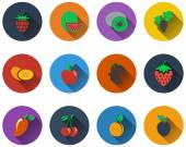 Set of fruit icons — Stock Vector